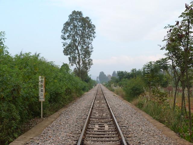 Vías de tren en China