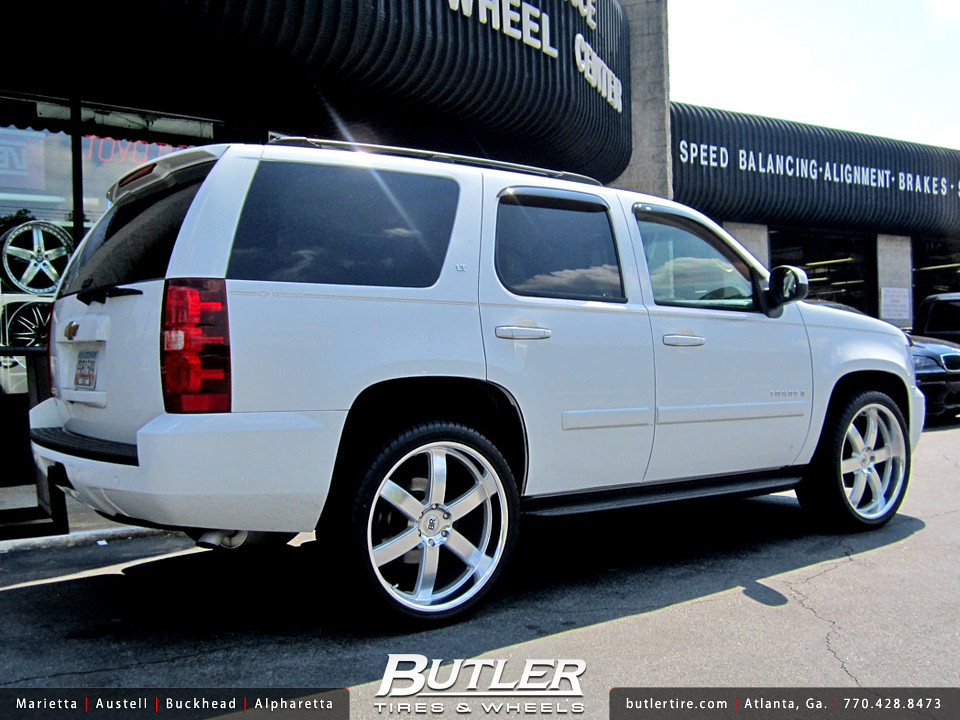 chevy tahoe with 24in black rhino pondora wheels. Black Bedroom Furniture Sets. Home Design Ideas