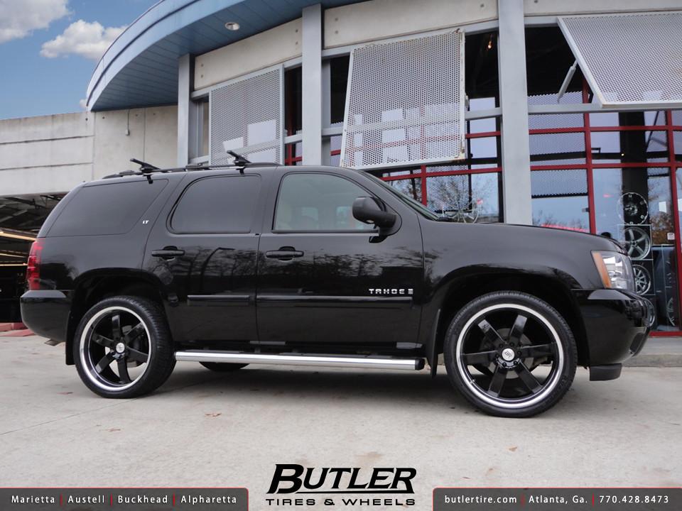 Chevy Tahoe with 24in Black Rhino Pondora Wheels ...