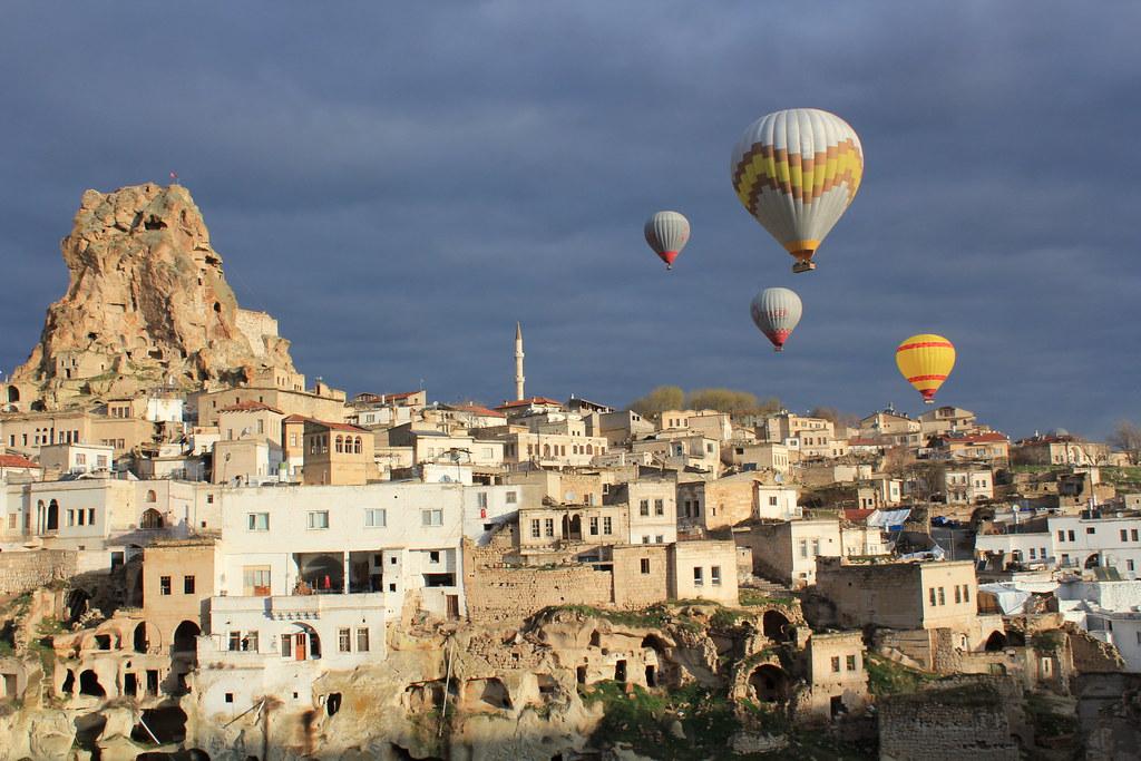 Cappadocia balloon trip, Ortahisar Castle  Cappadocia ...