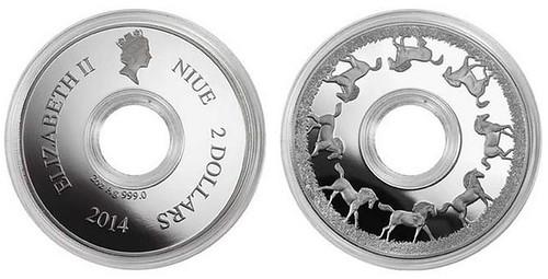 Niue Galloping Horse coin
