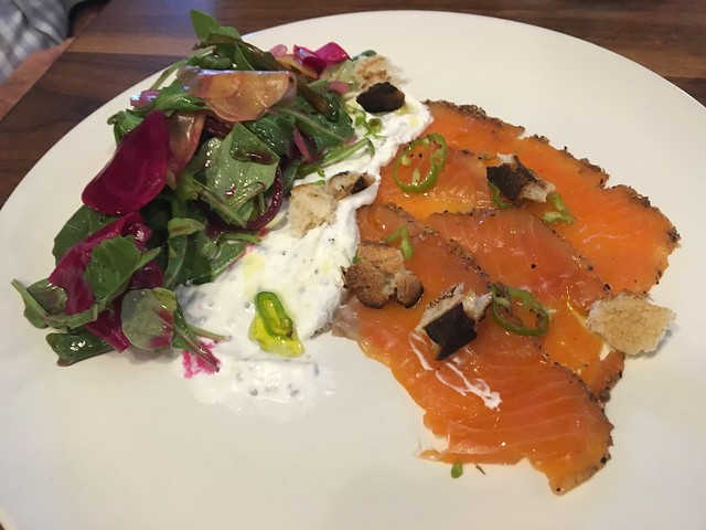 Pastrami cured wild salmon - Waxman's Restaurant