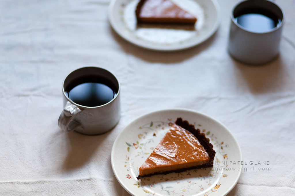 sweet potato tart slices & coffee for two