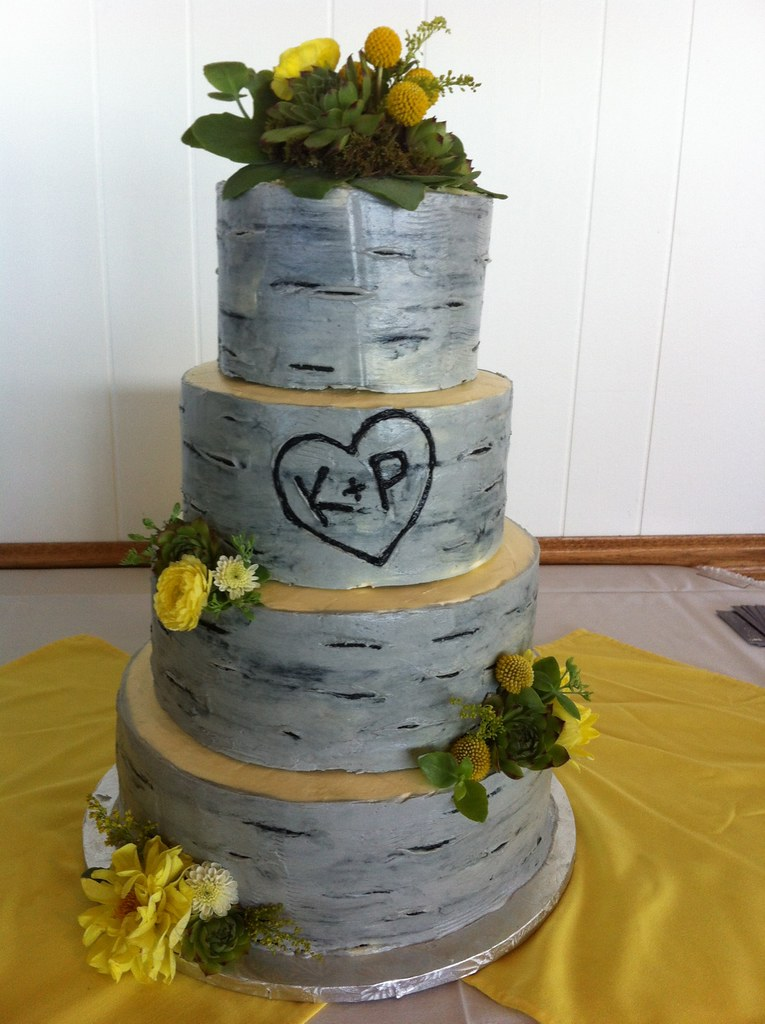 white birch wedding cake gray birch tree wedding cake delicately delicious flickr 27231