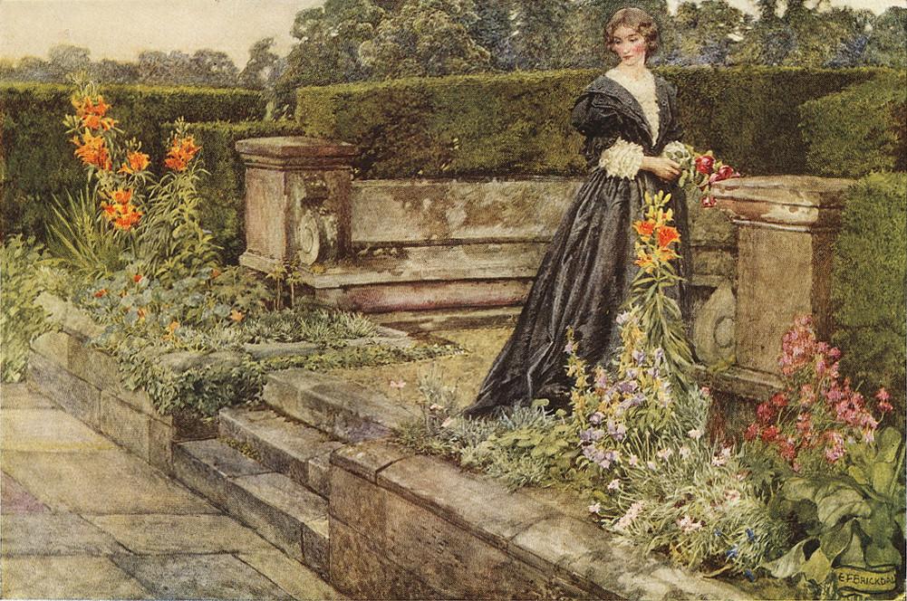 Eleanor Fortescue Brickdale Garden Fancies The Flowers