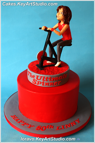 Spinning Bike Sports Cake 01 Larissa Cakes Keyartstudio