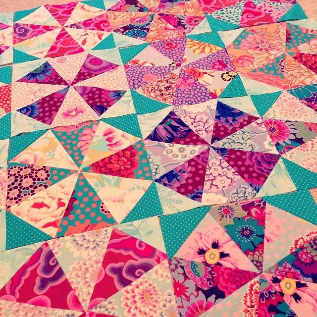 resurrecting kaffe fassett kaleidoscope quilt made 8 mo