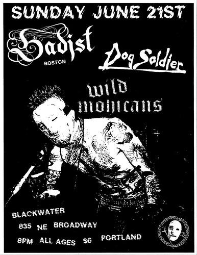 6/21/15 Sadist/DogSoldier/WildMohicans