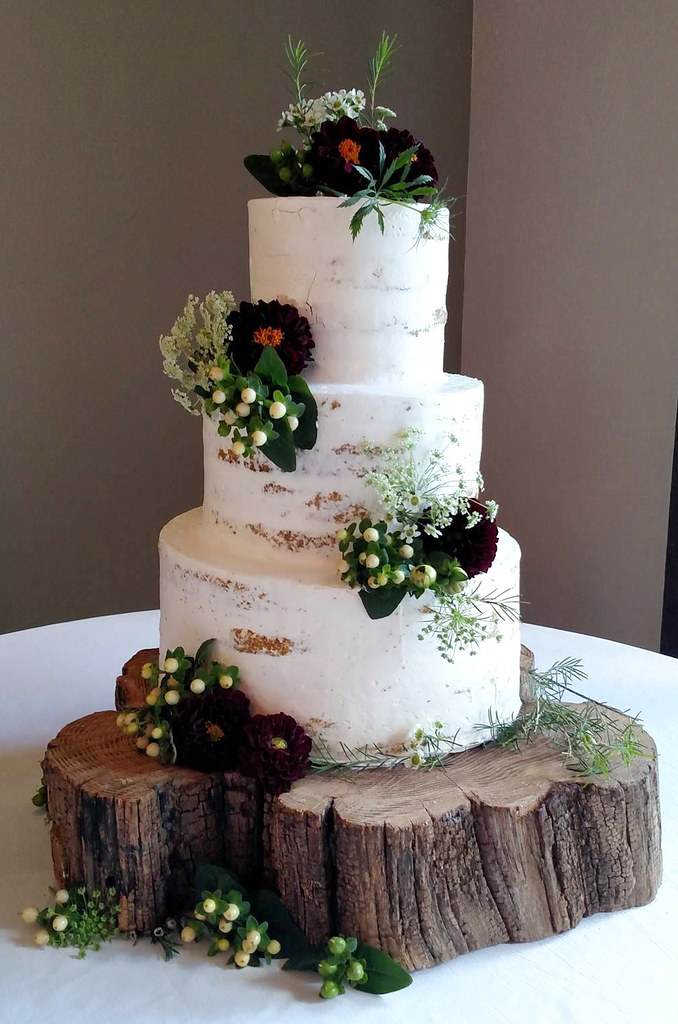 Barely Naked Wedding Cake