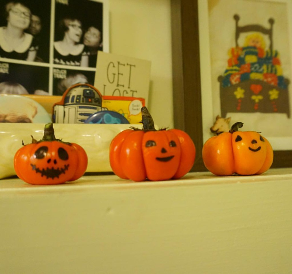 My miniature pumpkins! #pumpkins #halloween #miniature #miniaturehalloweendecor