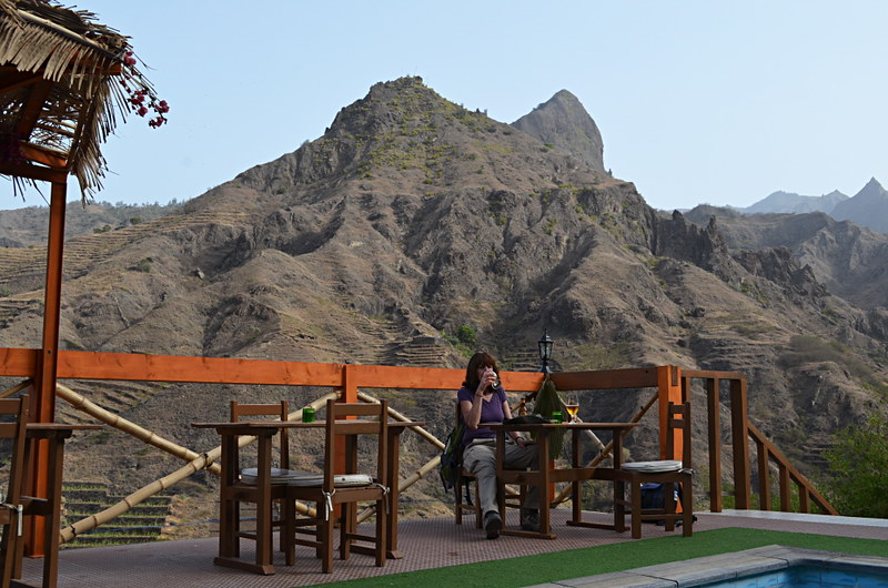 Relaxing at Pedracin Village, Santo Antao, Cape Verde