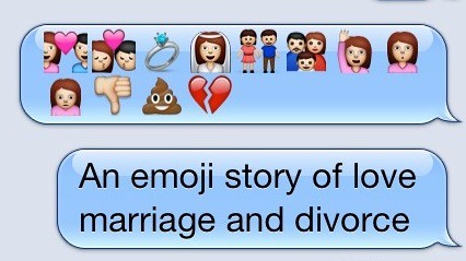 An emoji story of love marriage and divorce. | Cori Kesler ...