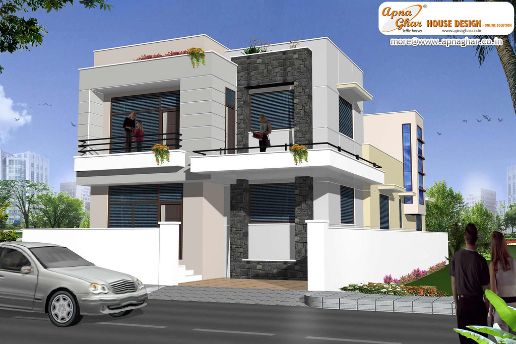 Duplex house design duplex house design in 198m2 9m x for New duplex designs