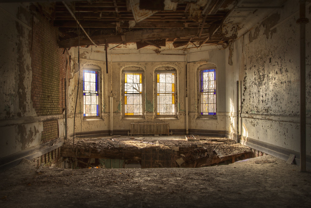 Room At Abandoned Psychiatric Hospital There Is