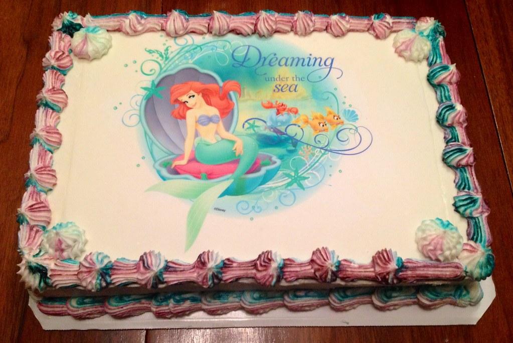 ariel sheet cakes