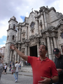 Tony at Havana cathedral