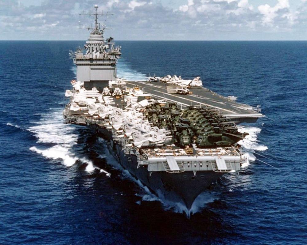 U.S. Navy aircraft carrier USS Enterprise (CVAN-65) Vietna ...