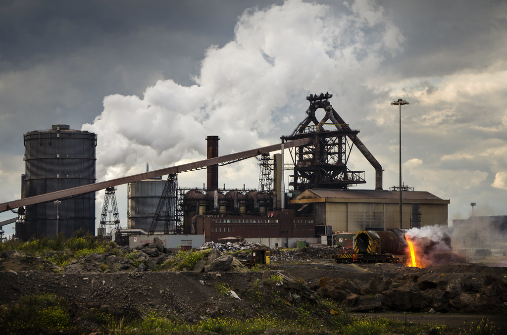 Teesside Steelworks Near Redcar When It Comes To