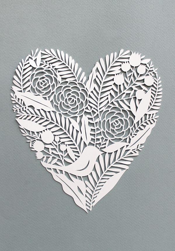 Heart paper cut | Silvia Raga | Flickr