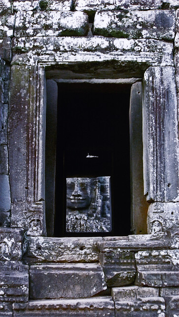 window at Angkor Wat, Cambodia