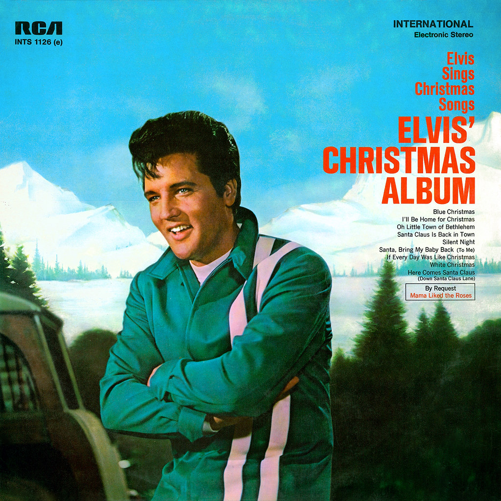 Christmas Album Cover Art.Elvis Christmas Album Lp Cover Art