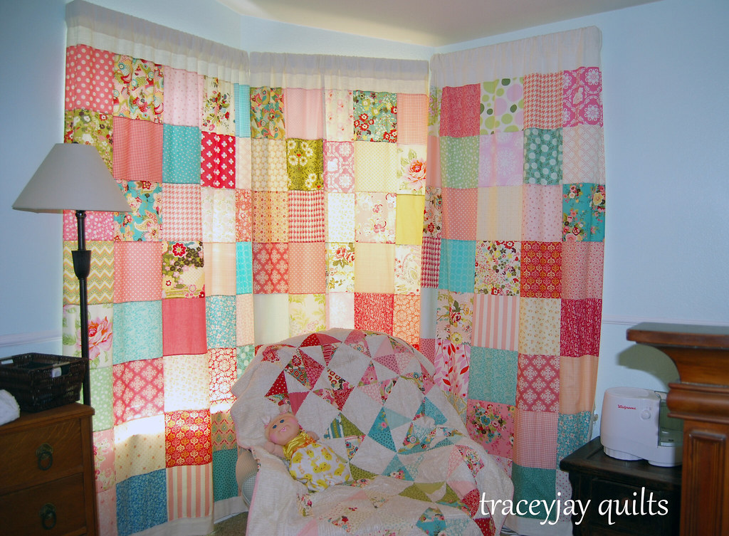 Scarlet's patchwork curtains | Tracey Jacobsen | Flickr