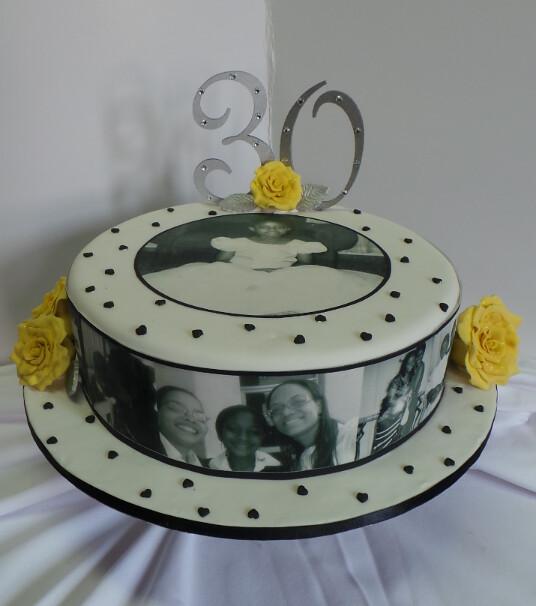 Yellow Classy Birthday Cake
