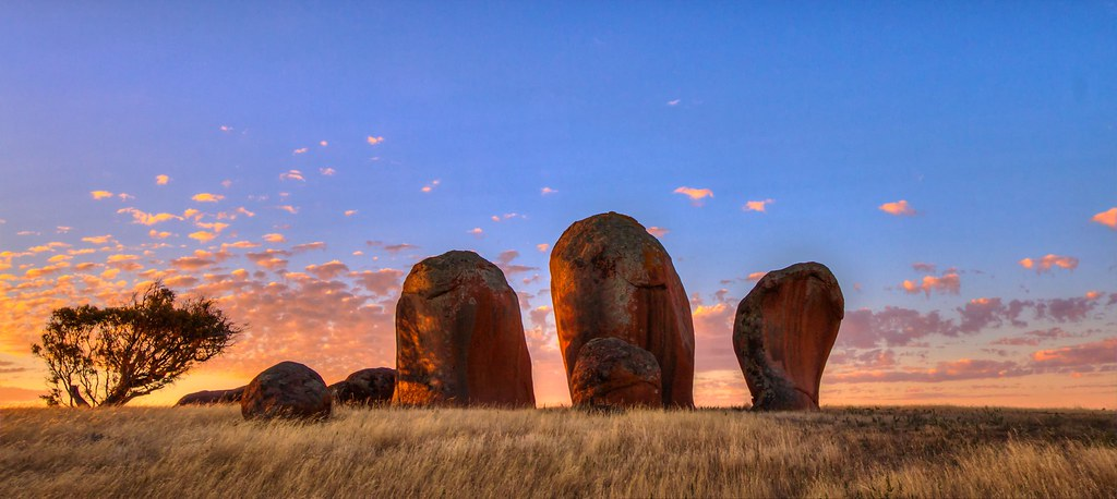 Sunset at murphy 39 s haystacks west coast south australia e for South australia landscape