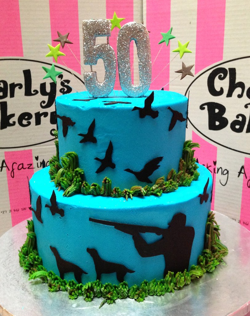 Duck Hunting themed 50th birthday 2tier cake with hunter Flickr
