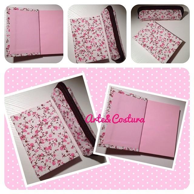 Artesanato Sustentável ~ Kit caderno de anotações + estojo floral Arte&Costura #cra u2026 Flickr
