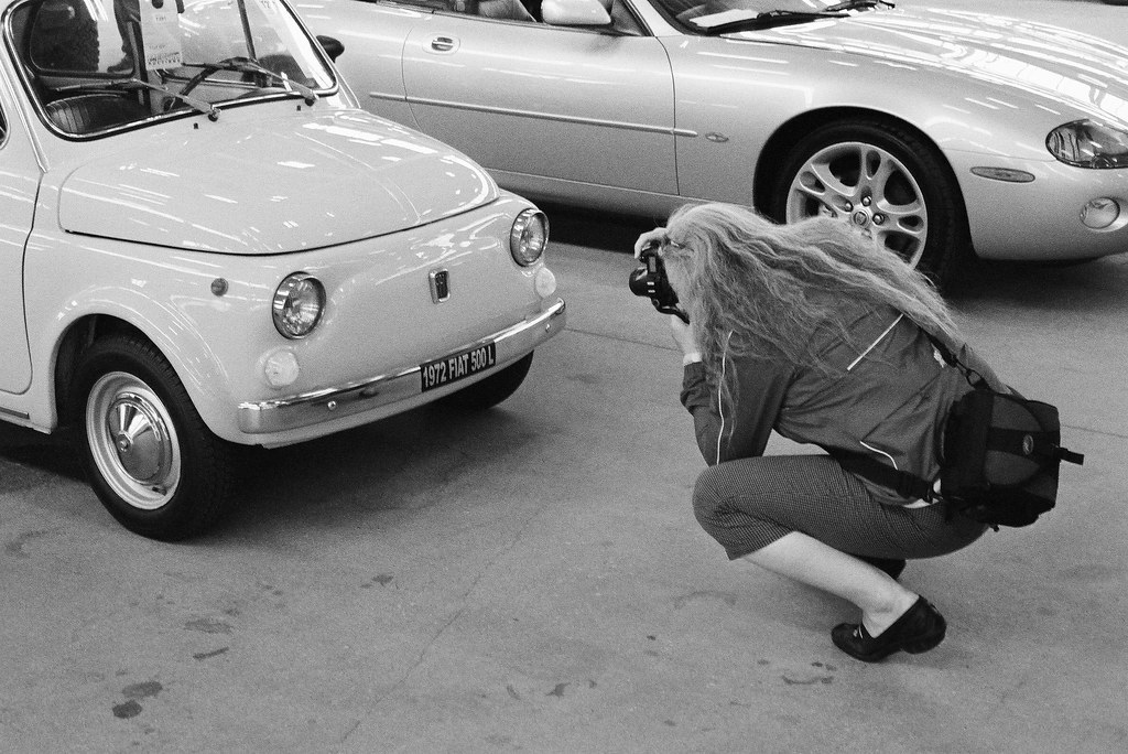Margaret and a Fiat