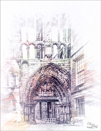 Image of Holyrood Abbey in Edburgh, Scotland
