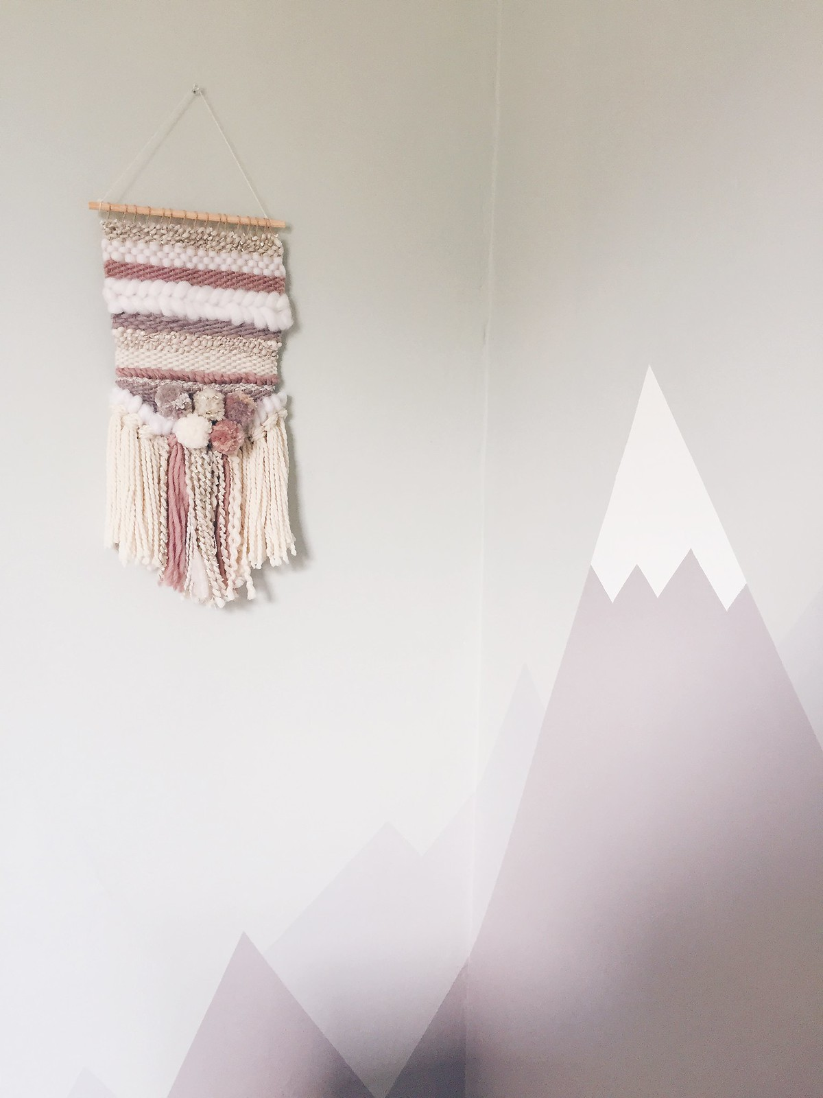 mountain mural for babys nursery
