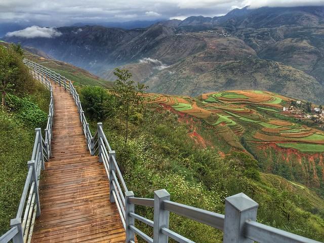 Pasarela de Dongchuan, las tierras rojas de Yunnan (China)