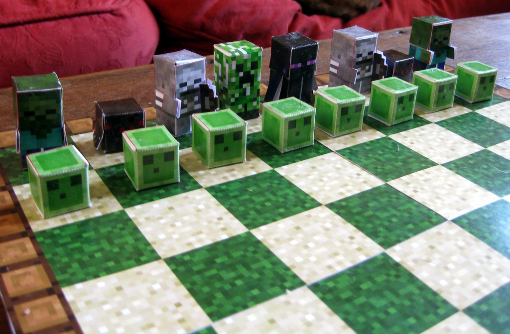 Papercraft Minecraft Made Using The Patterns From Pixel