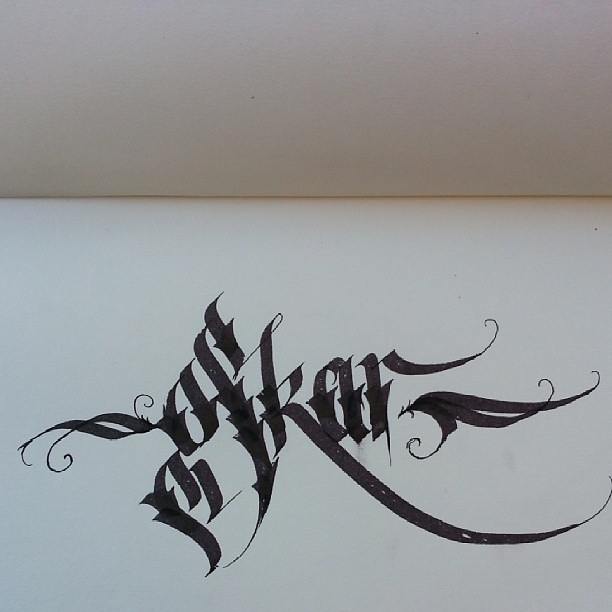 Doing some calligraphy again. #calligraphy #calligraffiti … | Flickr