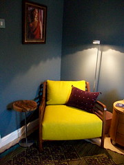 reading corner in its blue glory by FloxP