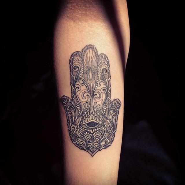 Mano De F&225tima Tattoo Tatuaje Fatimahand  Cesars Art Flickr