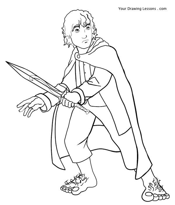 frodo baggins drawing