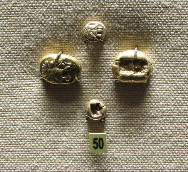 Lydian electrum Lion coins