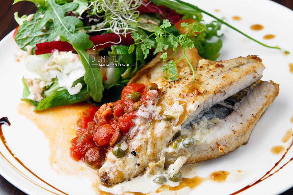 D Empire European Cuisine seabass fillet