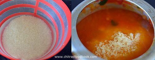 Tomato rice in cooker