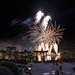 Japanese Snow Crane (Tsuru) Fireworks over the Torii Gate At Japan Epcot Illuminations