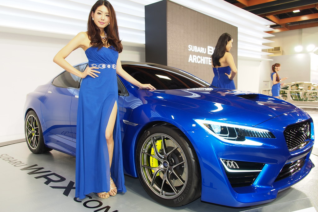 Subaru Girls And Wrx Concept 2013台北車展 ŏ�北世貿展覽館 Kevin