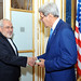 Secretary Kerry Greets Iranian Foreign Miniser Zarif As He Arrives For Second Day of Nuclear Talks in Vienna