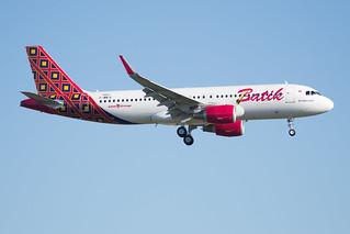 F-WWIE / PK-LUM - Airbus A320-214(WL) - Batik Air - msn 7421