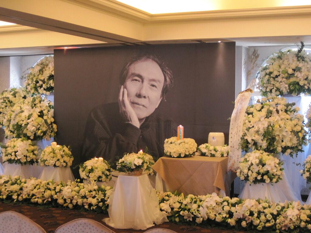 2012年10月21日,台北「林書揚同志追思告別式」現場。(攝影:張鈞凱)