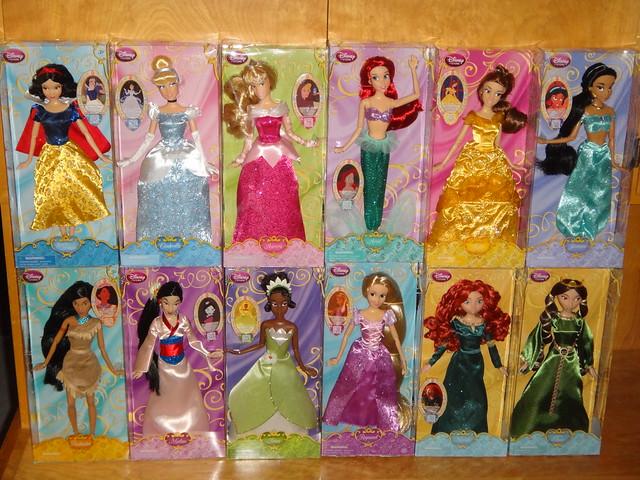 2013 classic disney princess dolls 11 princesses queen