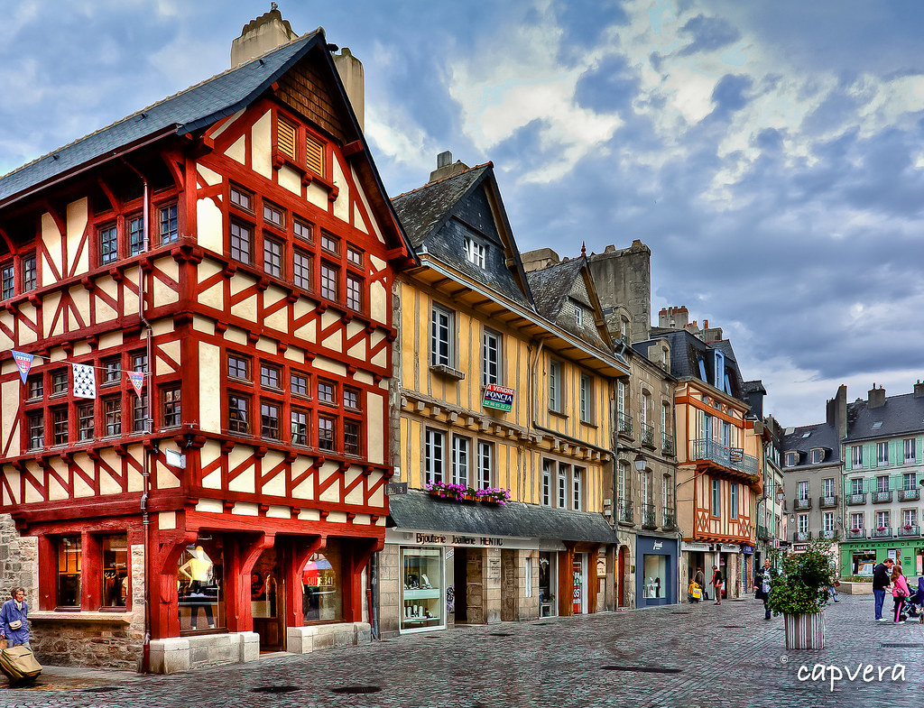 les maisons colombages de quimper place terre au duc flickr. Black Bedroom Furniture Sets. Home Design Ideas