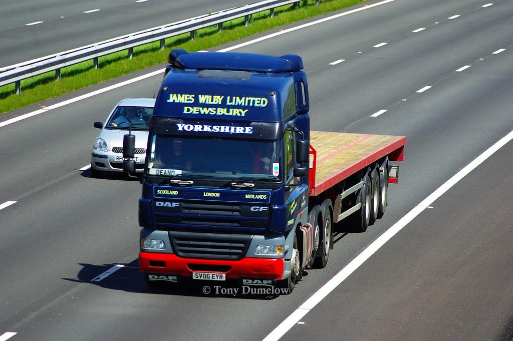 SV06EYR Daf CF James Wilby Limited on M4 near Newport | Flickr ...